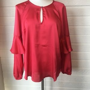 Rachel Roy long ruffle sleeve blouse